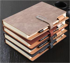 商务笔记本子定制加厚复古皮面大
